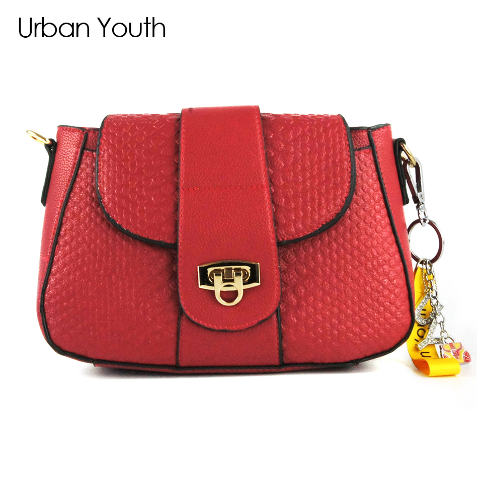 Urban Youth brand crossbody bag casual flap pu solid soft zipper cover versatile single high quality cotton famous designer chinese national style 2017 women bags casual bag top handle bag high quality soft pu zipper versatile one sequined belt