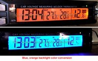New Car Voltmeter With Indoor Outdoor Thermometer Automotive Voltage Alarm Car Thermometer 20PCS Lot DHL UPS