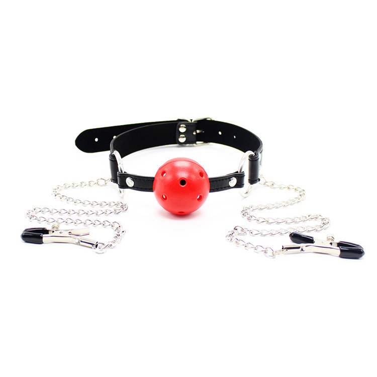 Aliexpresscom  Buy Porn Adult Sex Toys Slave Mouth Ball Gag With Nipple Clamps -2299