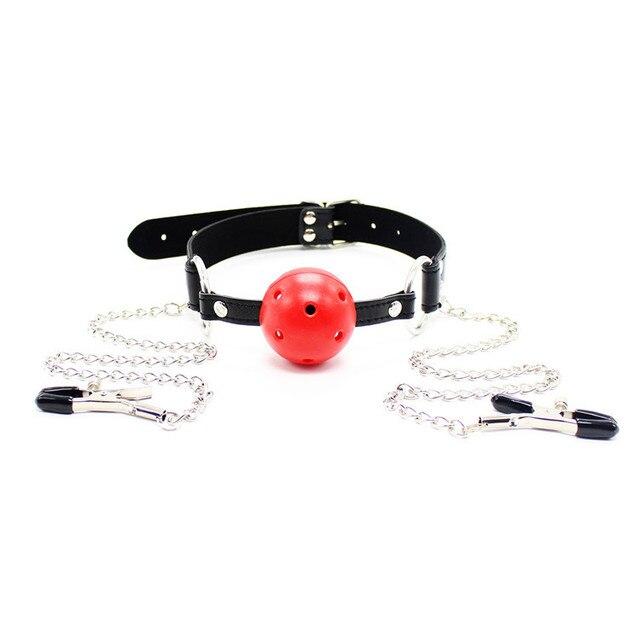Slave gag harness bondage ball