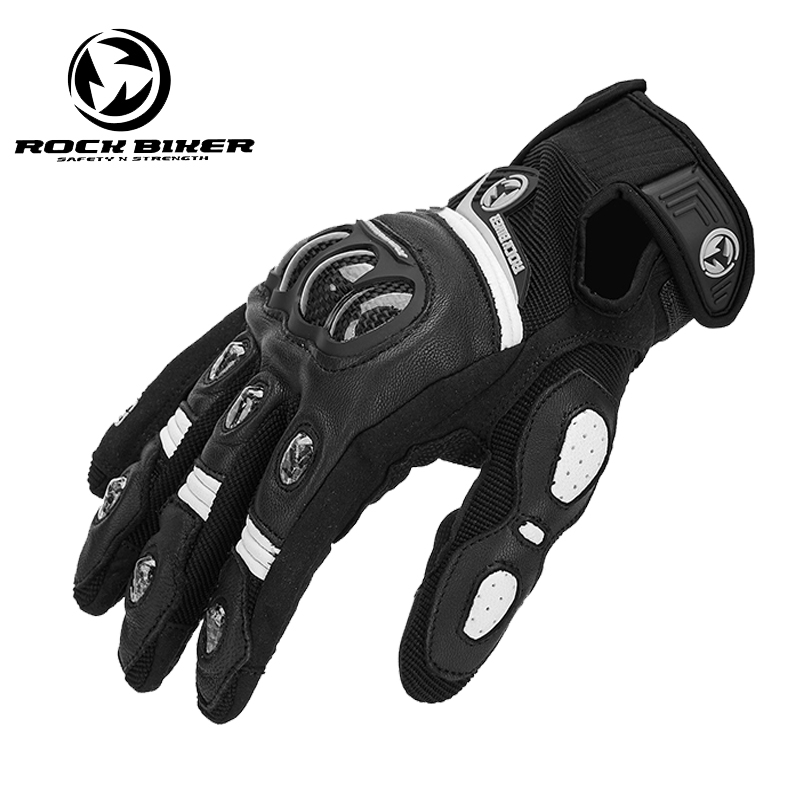 ROCKBIKE GOAT SKIN Motorcycle Gloves Motocross glove leather carbon fiber shell motor glove car guantes Men