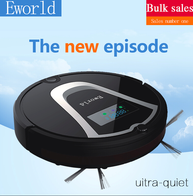 цена на Eworld Robotic Vacuum Cleaner M884 with Cleaning Brush, Rechargeable Automatic Cleaning Robot for Floor(Online Shipping)