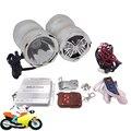 Motocicleta de alarme de controle remoto de áudio MP3 Player rádio FM com LED Spot Light farol Universal