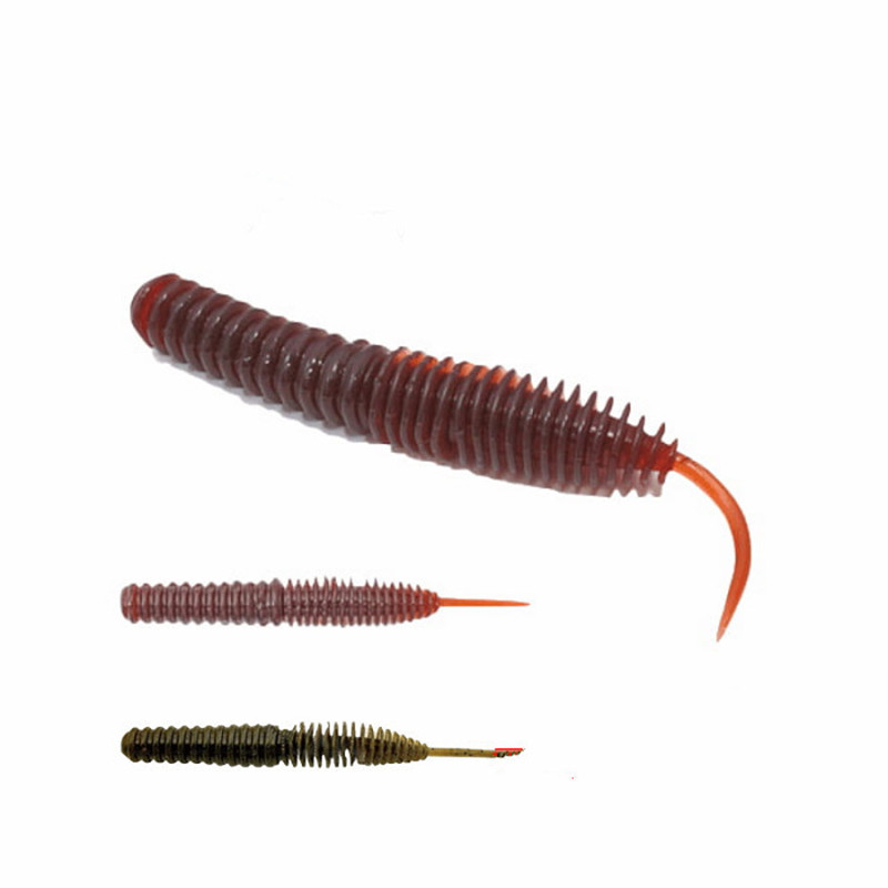 Dance Worm Soft Bait Fishing Lure 6.5/7.5/8.5cm Needle Straight Tail Artificial Lures Bass Mandarin Culter 16 20 Pieces-in Fishing Lures from Sports & Entertainment