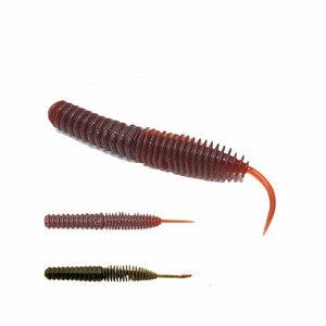 Image 1 - Dance Worm esca morbida esca da pesca 6.5/7.5/8.5cm ago coda dritta esche artificiali Bass mandarino Culter 16 20 pezzi