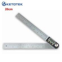 200 мм электронный Измеритель угла из нержавеющей стали цифровой транспортир Инклинометр 20 см Гониометр измерительный инструмент