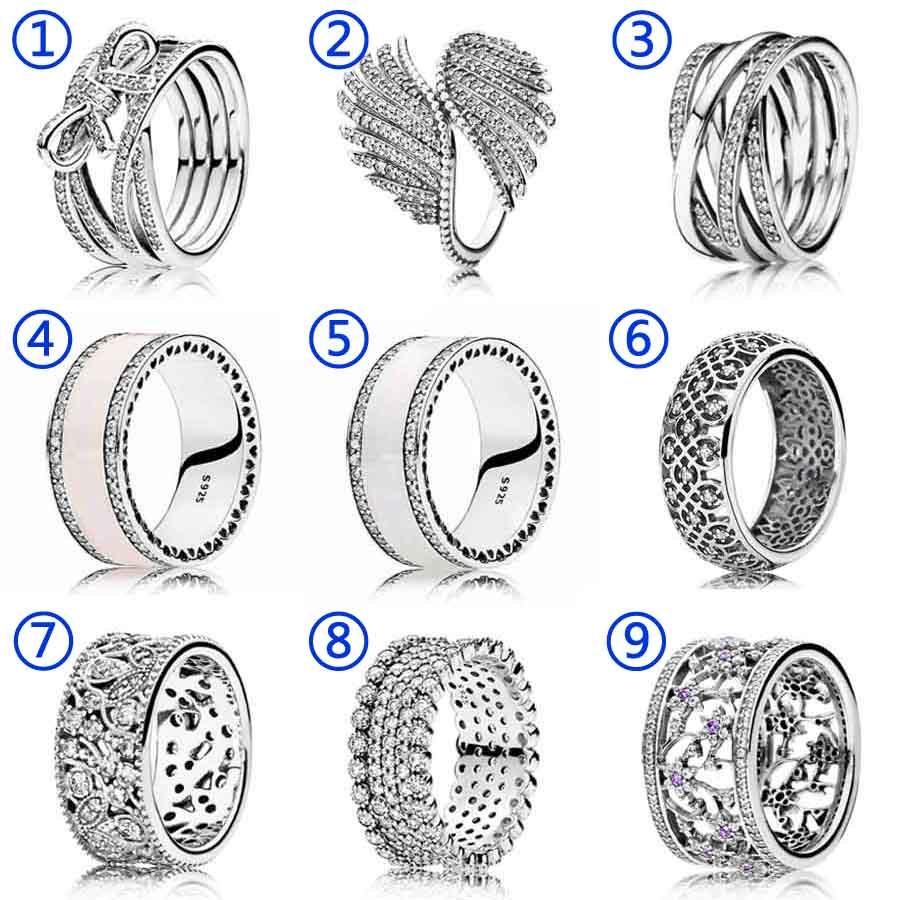 30% Silber Ring Rosa Herzen Lavish Sparkle Majestic Feder Mit Kristall Ring 925 Sterling Silber Diy Pandora Schmuck