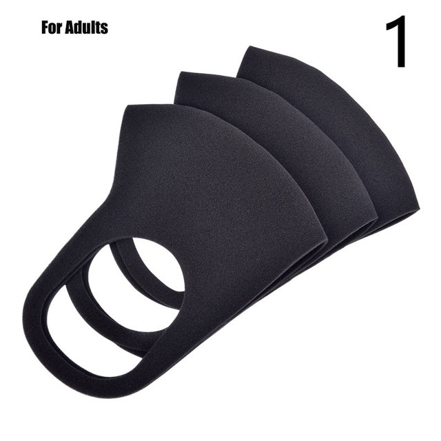 3pcs Mouth Mask Black Cotton Blend Anti Dust And Nose Breathable Face Mouth Mask Fashion Reusable Masks For Man Woman 4