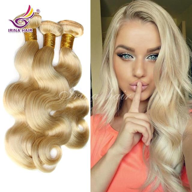 Peruvian Body Wave Bleach Blonde Hair Bundles Color 613 Hair