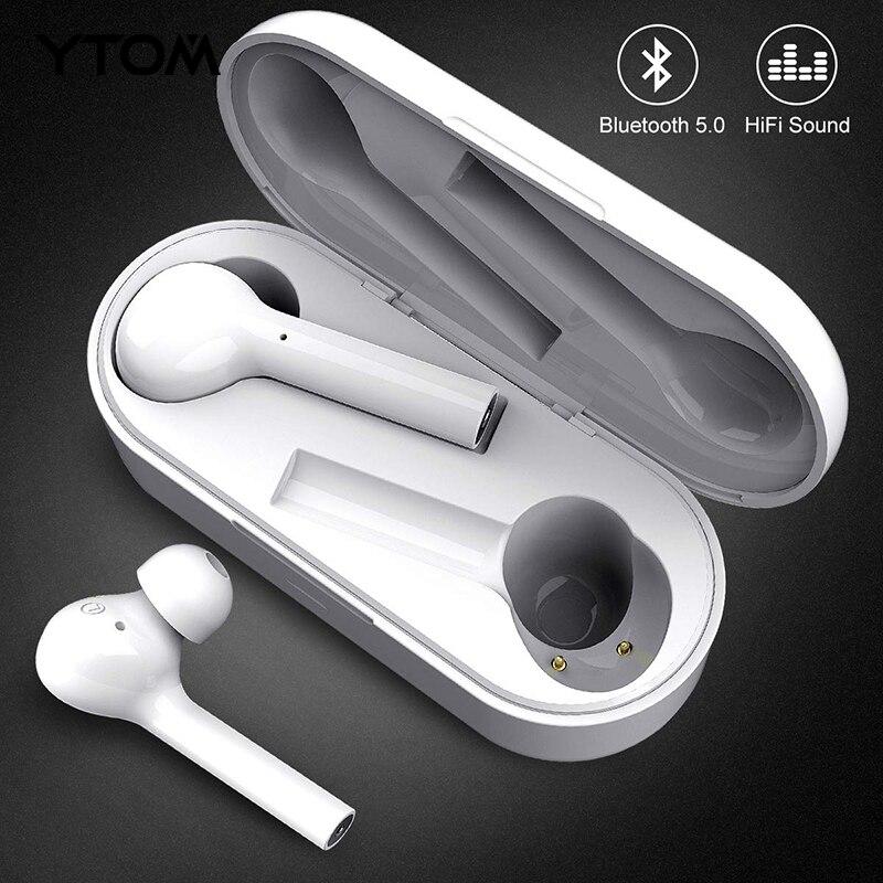 YTOM Freebud Bluetooth 5.0 écouteur sans fil casque clair basse micro Eaburds pour iphone huawei xiaomi Android téléphone pc sport