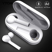 YTOM Freebud Bluetooth 5.0 Earphone Wireless Headphones Clear Bass mic Eaburds for iphone huawei xiaomi Android phone pc sport