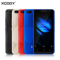 XGODY X27 5 Inch Mobile Phone Android 9.0 Face ID MTK6580 Quad Core 1GB 16GB 3G Dual Sim 5MP Camera Smarthone 3D Back Cover WiFi
