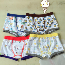 1Pcs Briefs For Boys boxers Animal Printing Cartoon Children Panties Kid box Brief kids Underwear