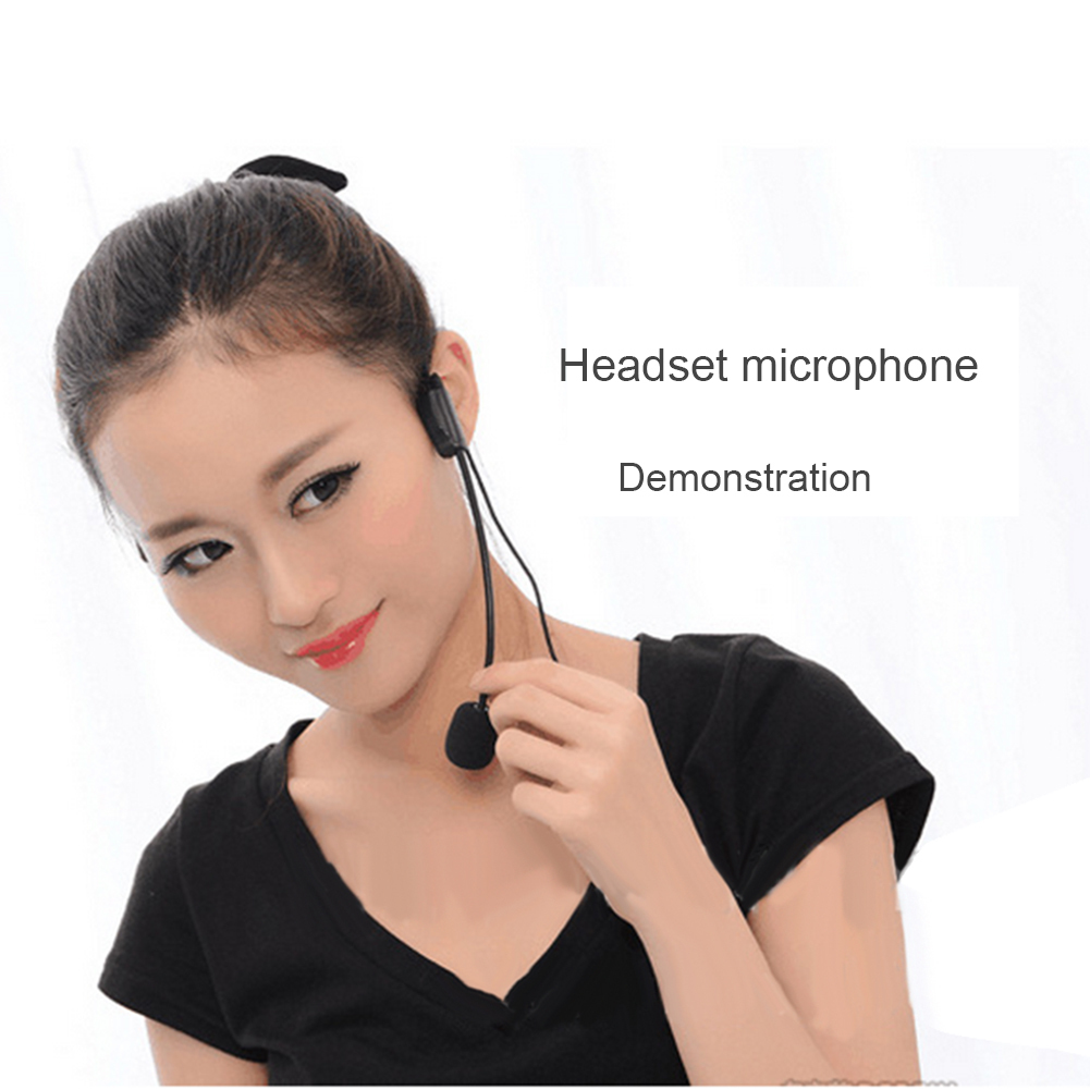 Mini Wired Condenser Microphone 3 5mm Jack Stereo External Mic Headset Style Microfone For Smartphone Laptop Teaching in Microphones from Consumer Electronics