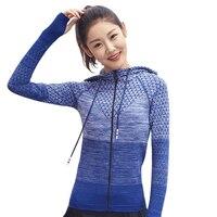 Women Sports Hoodies Running Jacket Woman Track Jacket Yoga Shirt Long Sleeve Yoga Shirt Breathable Gym Fitness Clothes