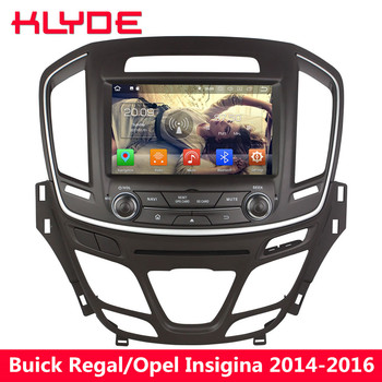 KLYDE Octa Core 4G WIFI Android 8.0 7.1 6.0 4GB RAM 32GB ROM Car DVD Player Radio Stereo For Buick Regal/Opel Insignia 2014-2016