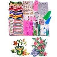 مواد اللف الكاملة 21 نوع من الأدوات اللازمة مع ورقة 1520 شرائط للمبتدئين الأطفال الكبار-في اوراق حرفية من المنزل والحديقة على