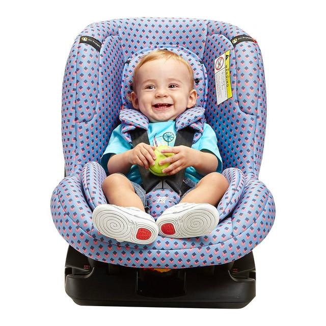 De alta calidad de coche de bebé asiento de seguridad de dos vías de la instalación y la regulación