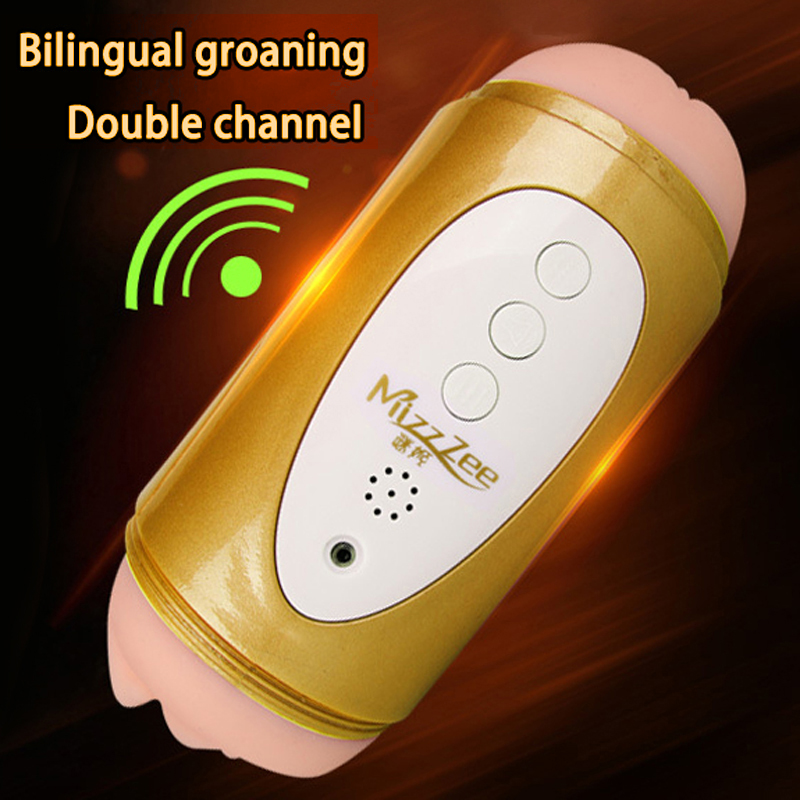 Electric Double head Realistic Vagina 3D Oral Vibration Male Masturbation Adult Sex Products Artificial Pussy Male Oral Sex Toys evo 3d artificial vagina male masturbator adult sex products gasbag strong sucker vibrating masturbation cup sex toys for men