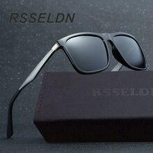 RSSELDN 2017 Fashionable Men High-grade Polarized Lens Sunglasses Male Brand Design High Quality Sunglasses Al-Mg Sunglasses Men