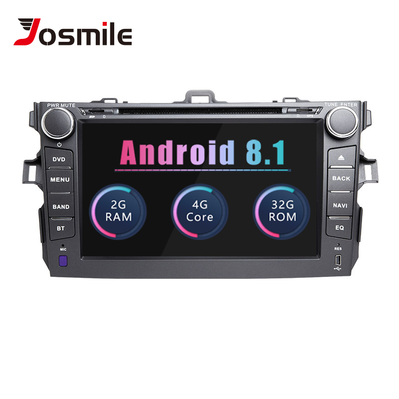 Josmile Car Multimedia Player 2 Din Android 8.1For Toyota Corolla 2007 2008 2009 2010 2011 AutoRadio Stereo GPS Navigation Wifi
