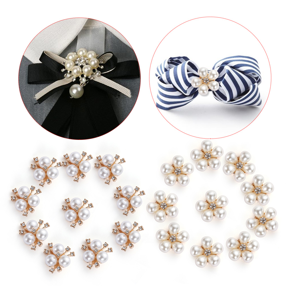 Flatback Rhinestone Button Apparel Sewing Pearl Buckle Snowflake Buttons