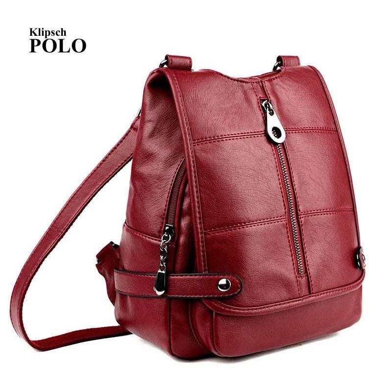 все цены на Backpack Mochila Feminina Mochilas Women Bag School Bags Genuine Leather Backpacks Travel Bagpack Mochilas Mujer 2017 Sac a Dos онлайн