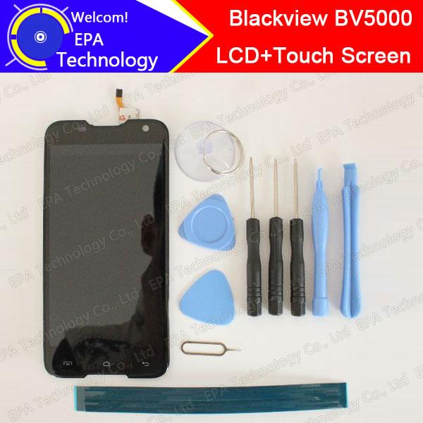 Prix pour 100% D'origine Blackview BV5000 LCD Display + Écran Tactile 1280X720 5.0 pouce L'assemblée Pour Blackview BV5000 + outils