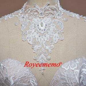 Image 3 - 2019 nuovo treno ad alta collo del merletto dellabito di sfera vestito da cerimonia nuziale Reale abito da sposa custom made abito da sposa di fabbrica direttamente da sposa abito