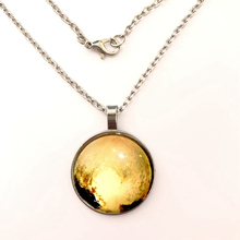 YSDLJG PLUTOS HEART PENDANT NECKLACE photo dwarf planet glass cab space astronomy Gift Jewelry