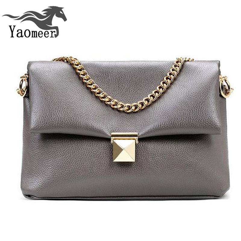 Famous Brand Womens Chain Bags Designer Handbags High Quality Vintage Pu Tote Clutch Gray Leather Shoulder Crossbody Bag Female
