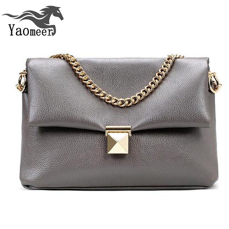 Famous Brand Womens Chain Bags Designer Handbags High Quality Vintage Pu Tote Clutch Gray Leather Shoulder Crossbody Bag Female стоимость