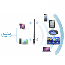 150Mbps Mini USB WiFi Adapter 2.4G Wireless Network WLAN Card with 5DBi Antenna IEEE 802.11n/g/b Wireless PC wifi adapter 2016