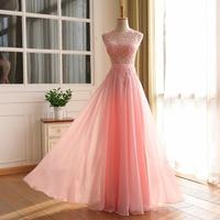 Robe De Soiree A line Long Prom Dresses Sexy Open Back Vestido De Festa Longo Vintage Evening Dress Party Gowns 2016 Real Image