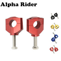 28MM 1 1/8 Handlebar Risers Fat Bar Mount Clamp Fit For CR CRF RMZ 125 250 250R 450 450R KX125 KX250 KXF250 KXF450 Dirt Bike