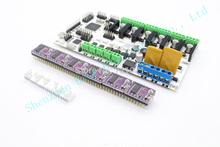 3D printer motherboard rumba MPU/ RUMBA optimized version control Board 3D printer accessories  with 6PCS DRV8825 Free shipping!