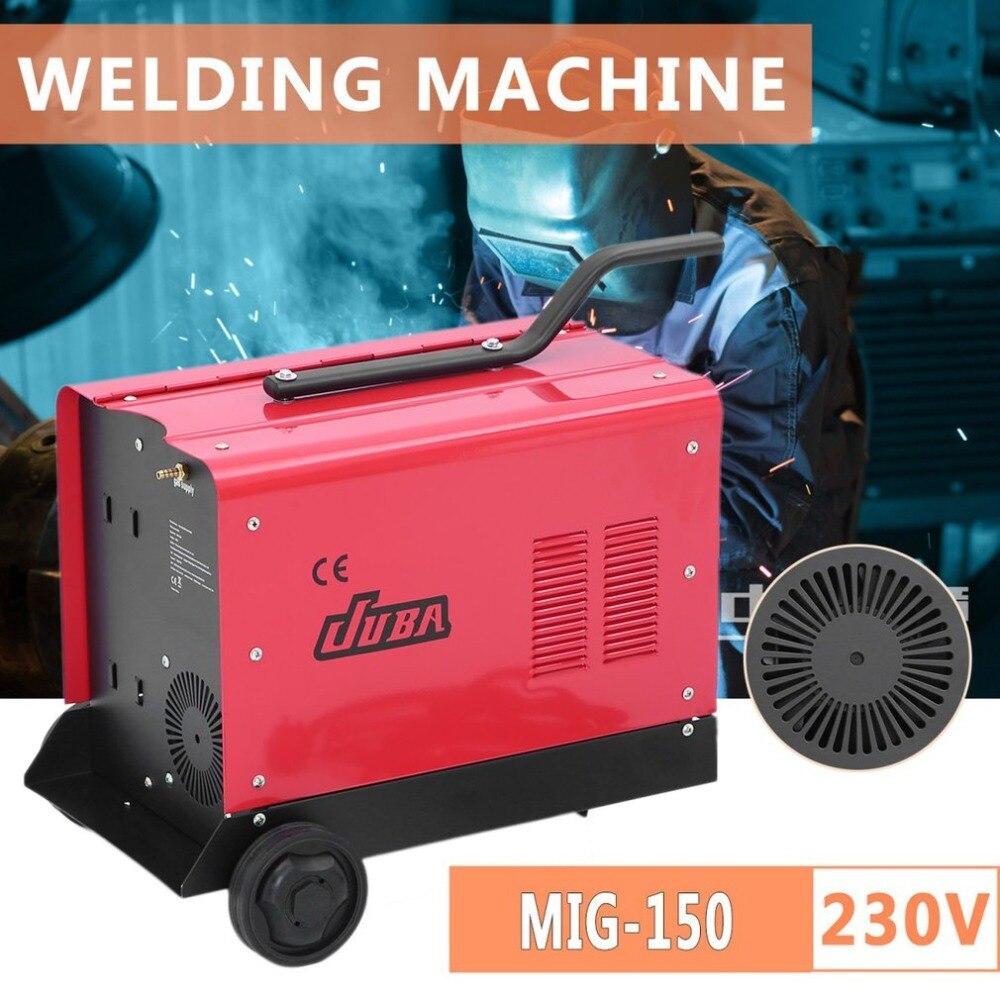 Professionale 230 V MIG-150 Macchina di Saldatura Con La Rotella di Saldatura Elettrica Macchina Multiuso MIG Attrezzature Weldering Presa UK