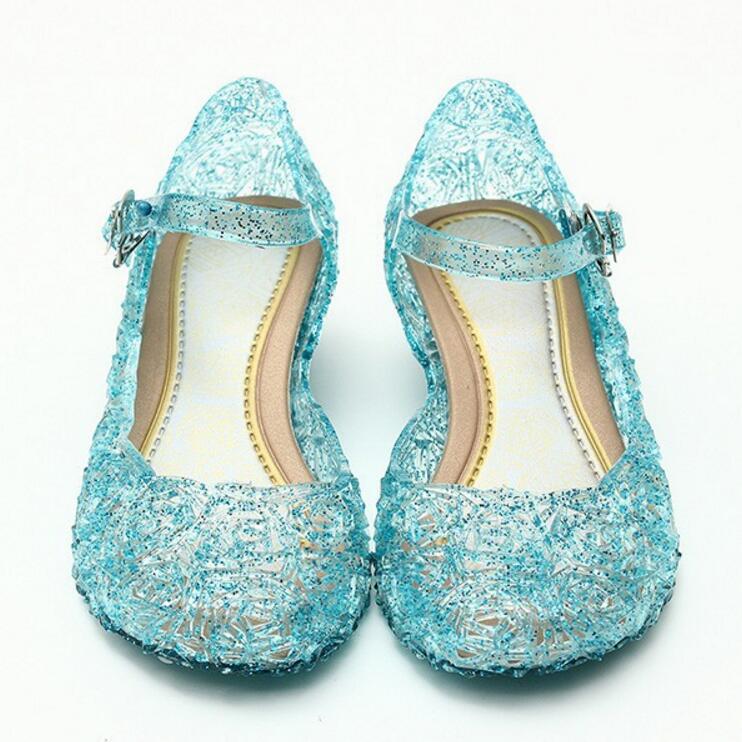 Los niños de la Muchacha Sandalias Jalea Princesa Vestir Cosplay Zapatos de Los Niños niñas Mary Jane Zapatos Dancing Stage Show 25-37 Alta calidad