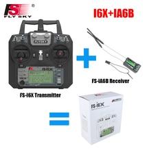 Voar Céu FS-i6X 10CH 2.4 ghz AFHDS 2A RC Transmissor Com FS-iA6B FS-iA10B FS-X6B FS-A8S Receptor Para Avião Rc Zangão quadecopte