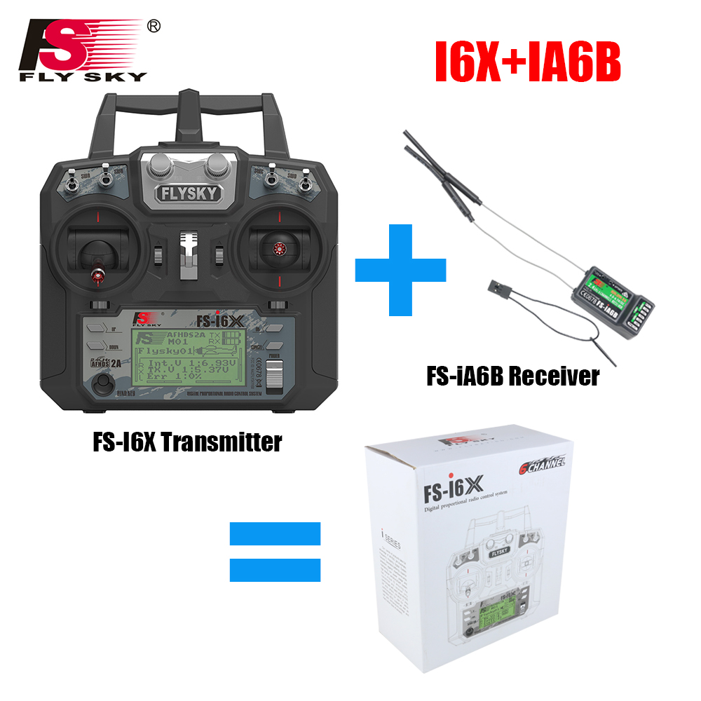 Flysky FS-i6X 10CH 2.4GHz AFHDS 2A RC Transmitter With FS-iA6B FS-iA10B FS-X6B FS-A8S Receiver For Rc Airplane Drone Quadecopte 1 set fs i6x 10ch 2 4ghz afhds 2a rc transmitter with fs ia6b fs ia10b fs x6b fs a8s receiver for remote control plane model