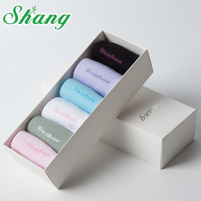 BAMBU ÁGUA SHANG embalagem caixa de Presente Lindo mulheres de fibra de bambu meias meias de Doces bonito mulheres casuais meias antibacterianas Naturais LQ-8