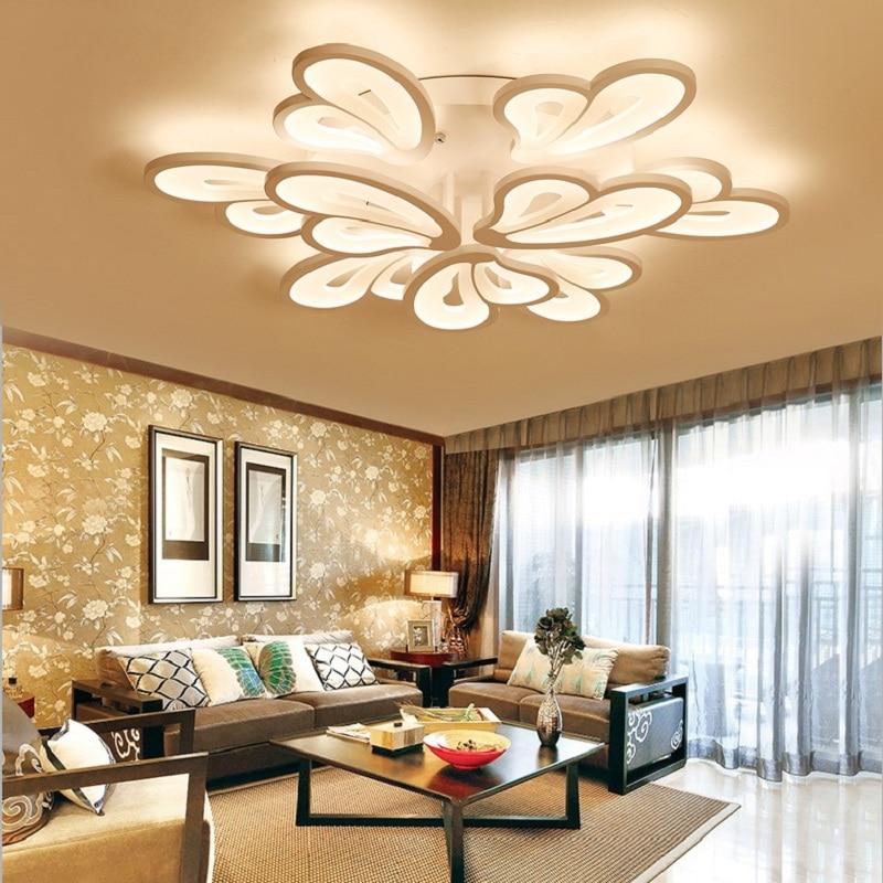 2018 Hot Modern led Ceiling Lights For Living Room Bedroom Study Room Home Deco White Color 85-265V Ceiling Lamp Free Shipping
