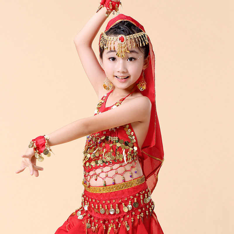 f8118016 ... HS13 Aged 5-14 Years Old Sexy Sequins Indian Dress Costumes  Professional Belly Dance Lingerie ...