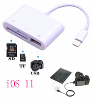 IOS 11 3 In 1 USB SD TF Card Memory Card Reader For IPad Air