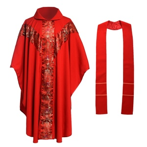 Image 4 - Priest Catholic Church Robe Archbishop Clergy Vestments with Stole Pope Chasuble Costume