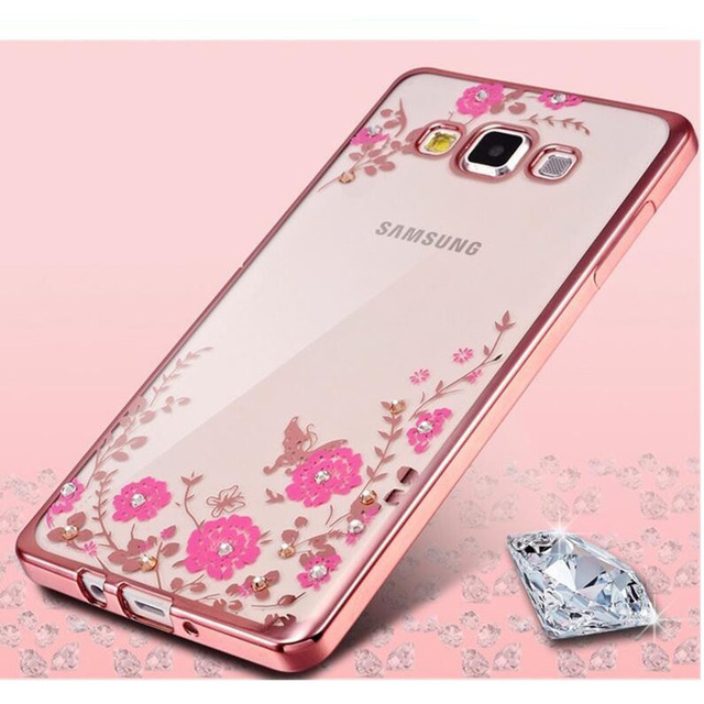 Diamants Rose Conception De Cas Tpu Pour Samsung Galaxy J7 (2016) 0MQHf
