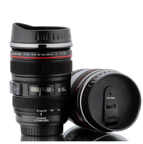 10 stücke 5 Erzeugung Kameraobjektiv becher 400 ml Kreative Canon Portable Edelstahl Tumbler Travel Isolierflasche Milch Kaffee becher-in Tassen aus Heim und Garten bei  Gruppe 1