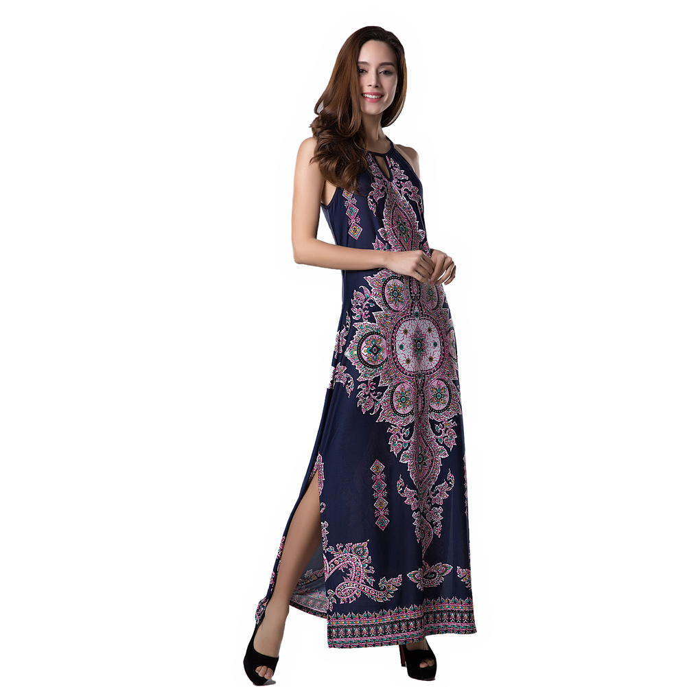 Beauty Floral Print Long Dress 4