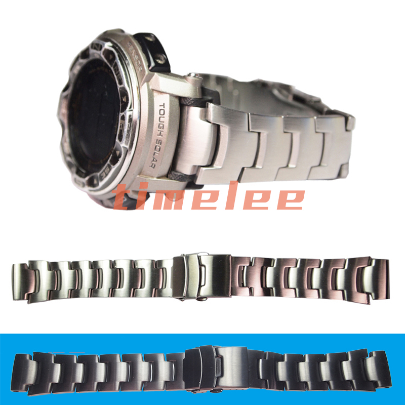 Image 2 - Stainless steel Strap  for CASIO PRG 250,PRG 510,PRW 3500,PRW 5000,PRG 260T,PAW 2500T Watch bands-in Watchbands from Watches