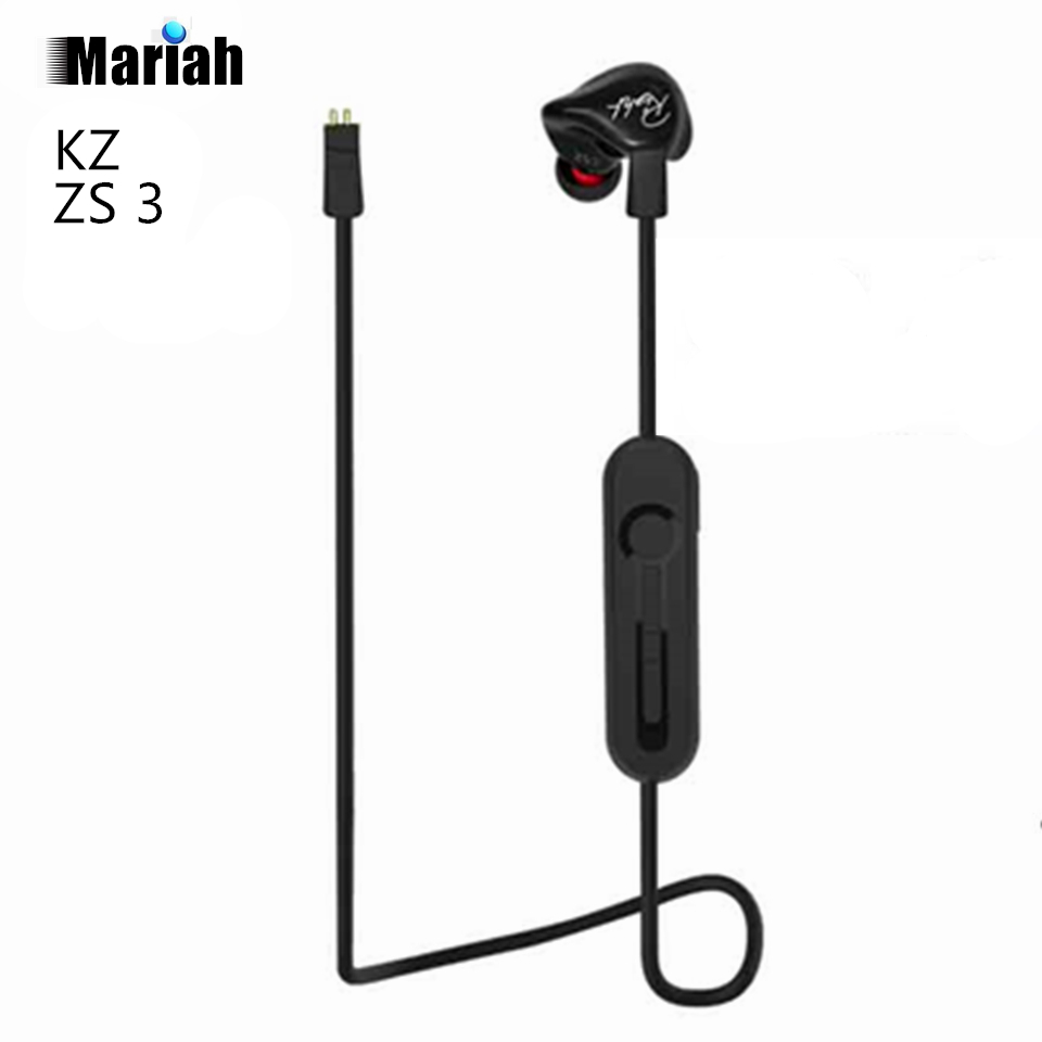 KZ ZS3 Ergonomic Detachable Cable Earphone In Ear Audio Monitors Noise Isolating HiFi Music Sports Earbuds With Microphone original xiaomi mi hybrid earphone in ear 3 5mm earbuds piston pro with microphone wired control for samsung huawei p10 s8